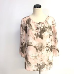 Chico's Pink Floral Blouse